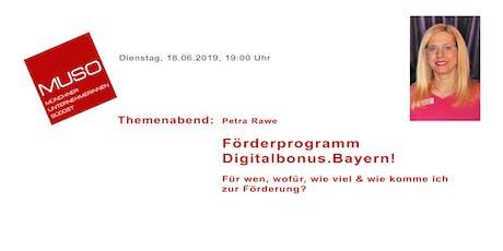 Themenabend: Förderprogramm Digitalbonus.Bayern Tickets