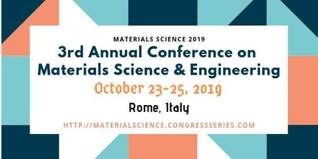 Materials Science | Materials Science 2019 | Materials Science Conferences biglietti