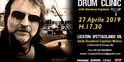 DRUM CLINIC WITH GIANLUCA CAPITANI