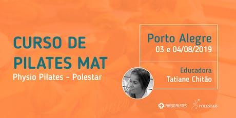Curso de Pilates Mat - Physio Pilates Polestar - Porto Alegre ingressos