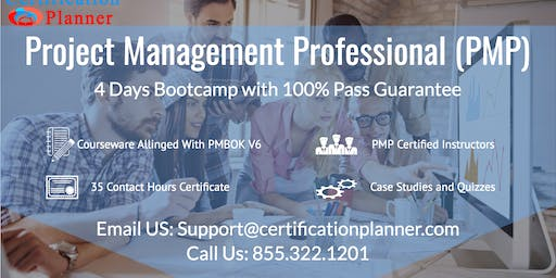 Project Management Professional (PMP) 4-days Classroom in Spokane