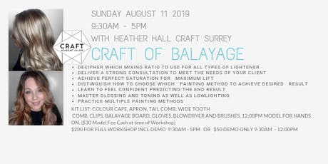 CRAFT of BALAYAGE Workshop - with Heather Hall tickets