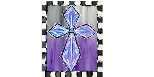 Zion Memorial United Church - Checkered Cross - Paint Party