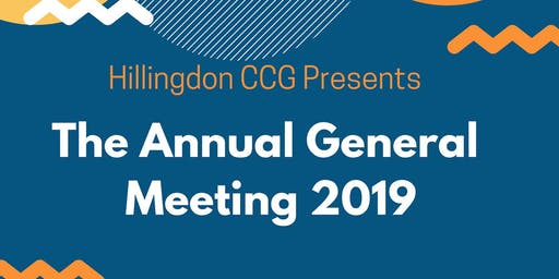 NHS Hillingdon CCG Annual General Meeting 2019 (AGM)