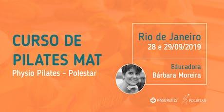 Curso de Pilates Mat - Physio Pilates Polestar - Rio de Janeiro ingressos