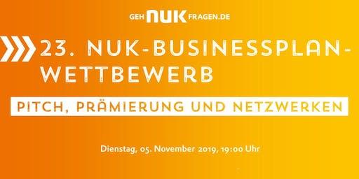 23. NUK-Businessplan-Wettbewerb! Pitch, Prämierung und Networking