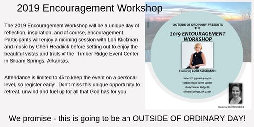 2019 Encouragement Workshop