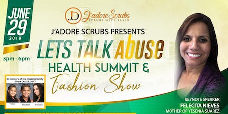 LET'S TALK ABUSE HEALTH SUMMIT & FASHION SHOW tickets
