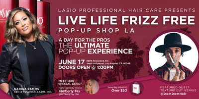 Lasio Live Life Frizz Free Pop-Up Experience- A Day For the Pros