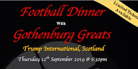 Football Dinner with Gothenburg Greats tickets