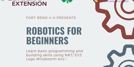 Fort Bend 4-H : Robotics for Beginners -Workshop #3 tickets