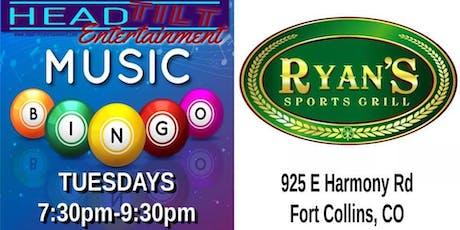 Music Bingo at Ryan's Sports Grill tickets
