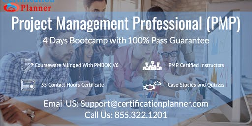 Project Management Professional (PMP) 4-days Classroom in Miami