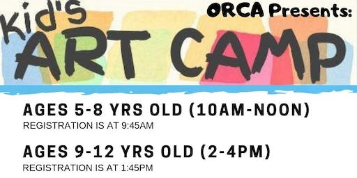 (Ages 5-8) Kid's Summer Art Camp