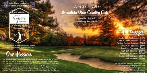 2019 State of Hope Foundation Annual Celebrity Golf Tournament