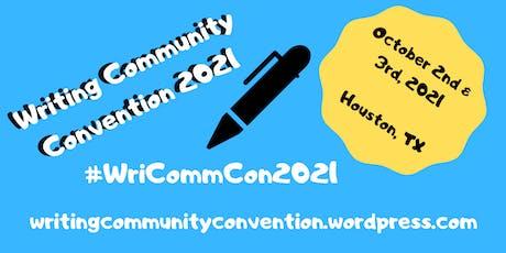 Writing Community Convention 2021 biglietti
