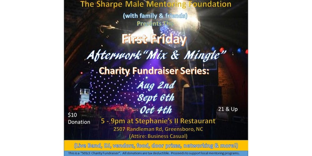 First Friday Afterwork Mix Mingle Charity Fundraiser Series