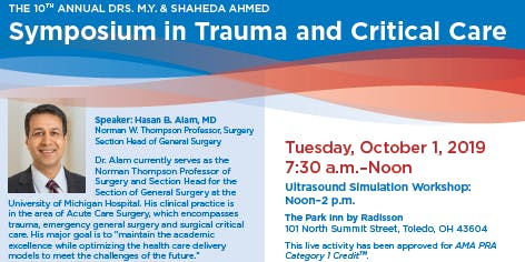 Mercy Health- The 10th Annual Drs. M.Y. & Shaheda Ahmed Symposium in Trauma and Critical Care