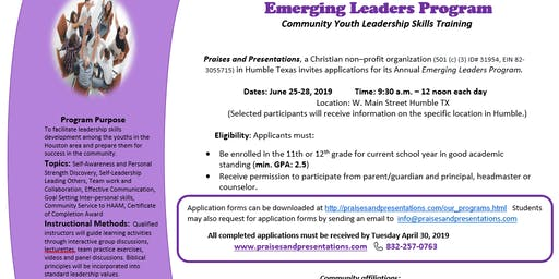 Emerging Leaders Program- Youth Leadership Skills Training