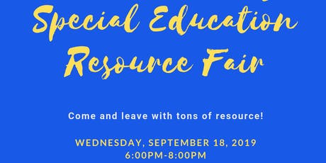 Education Takes a Village Special Education Resource Fair tickets