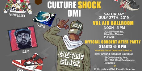 Culture Shock DMI Expo - Val Air Ballroom - July 27th tickets