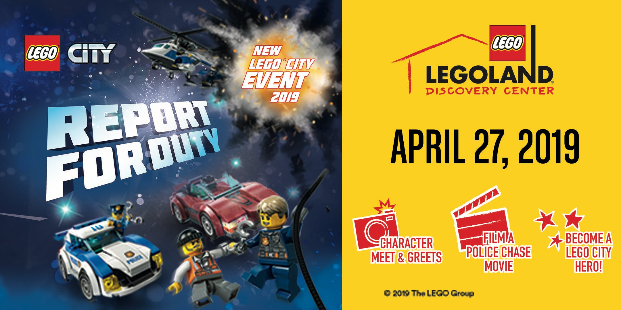 LEGO® City: Report for Duty Annual Pass Holder Character Breakfast