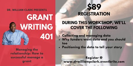 Grant Writing 401 - Managing the relationship: How to successful manage a grant tickets