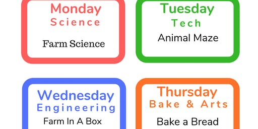 1 Day or 5 Days Summer  Holiday Week Workshops for all 3-6 YRS July 8th-12th