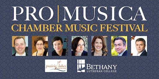 ProMusica Chamber Music Festival, Mankato, MN