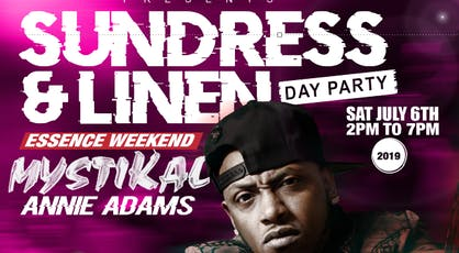 SUNDRESS & LINEN DAY PARTY tickets