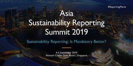 Asia Sustainability Reporting Summit 2019 (SGD) tickets