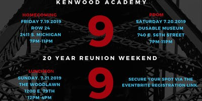 Class of 1999 Kenwood Academy Broncos Reunion Weekend