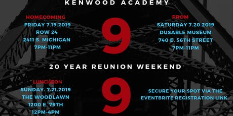 Class of 1999 Kenwood Academy Broncos Reunion Weekend tickets