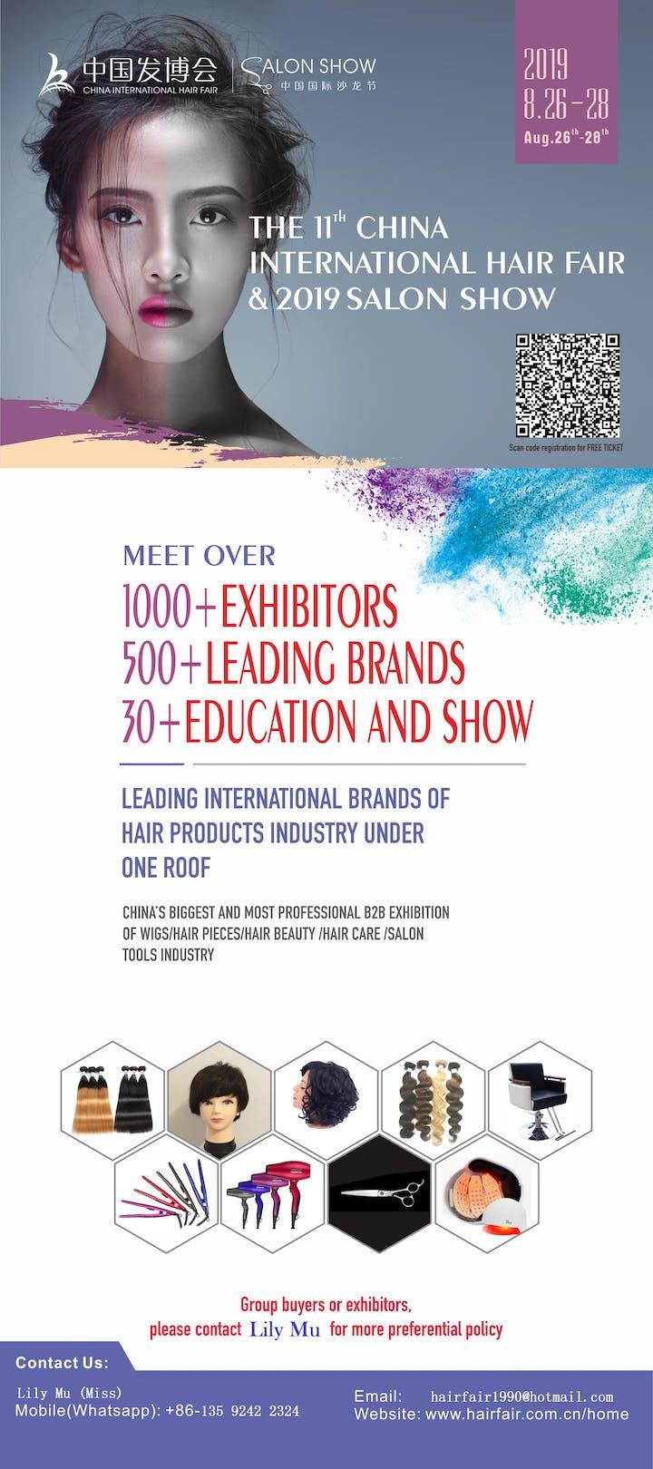 2019 China International Hair Fair & Salon Show Tickets, Mon, Aug 26