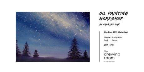 Oil Painting Workshop: Starry night by brush tickets