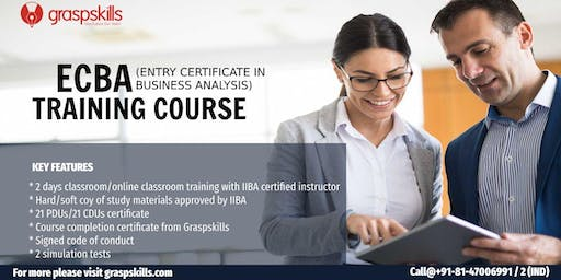 ECBA (Entry Certificate in Business Analysis) Training Course - Bangalore