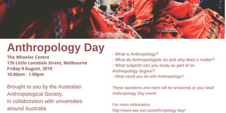Anthropology Day, Melbourne tickets