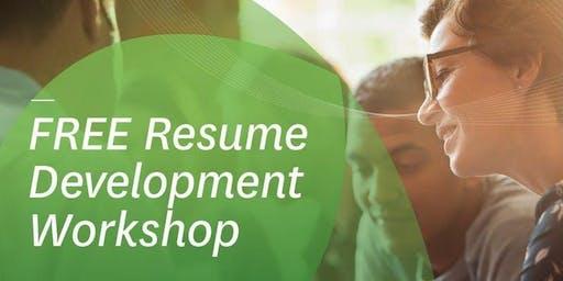 FREE Resume Development Workshop