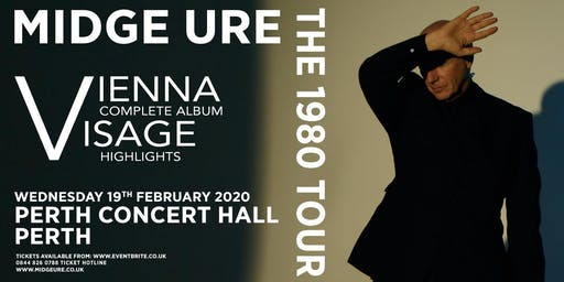 Midge Ure - The 1980 Tour, Vienna & Visage (Perth Concert Hall, Perth)