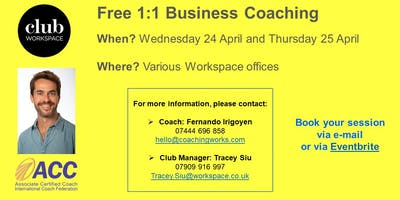 Free 1:1 Business Coaching at Workspace - various