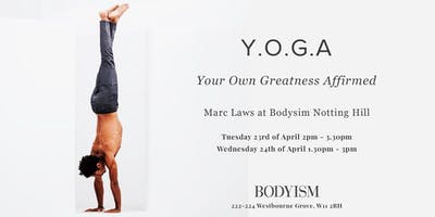 Marc Laws at Bodyism Y.O.G.A Workshop