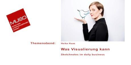 Themenabend: Was Visualisierung kann Sketchnotes für den Business Einsatz Tickets