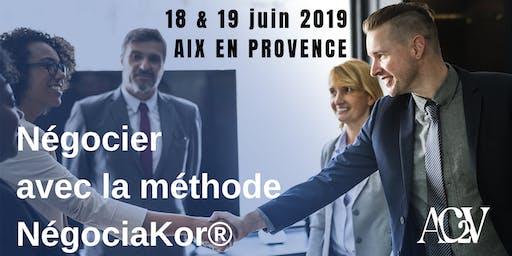 FORMATION NEGOCIER PAR LA METHODE NEGOCIAKOR© - Formation les 18 et 19 juin 2019 (14 heures)