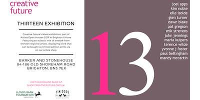 thirteen - Creative Future exhibition in Brighton\