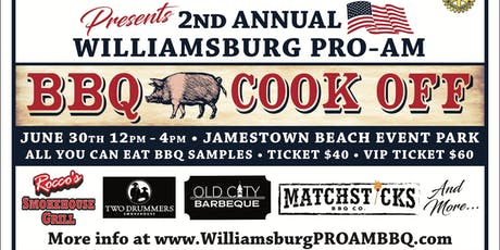 2nd Annual Williamsburg PRO AM BBQ Cookoff tickets