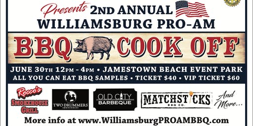 2nd Annual Williamsburg PRO AM BBQ Cookoff