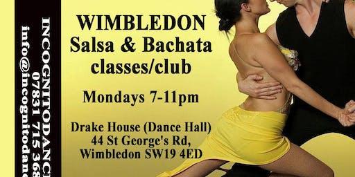 Salsa & Bachata on Mondays at Wimbledon Salsa & Bachata Club