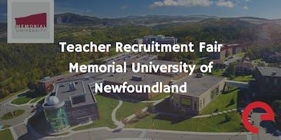Teacher Recruitment Fair - Memorial University of Newfoundland