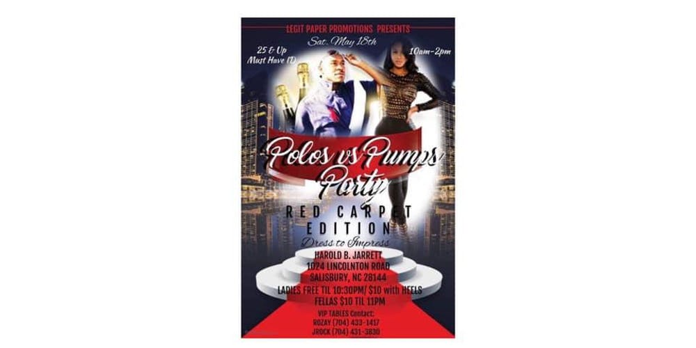 db1ac2b3a73 POLO VS PUMPS RED CARPET EDITION Tickets