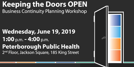 Keeping the Doors OPEN:  Business Continuity Planning Workshop